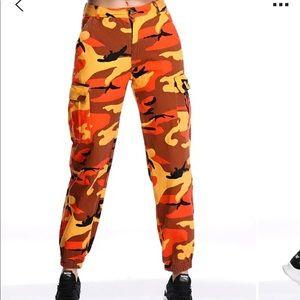 Orange Camo Pants 🍊